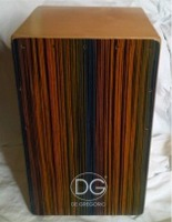 [DG Cajon Blue Zebra Finish]