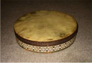 [Decorated Turkish frame drum]